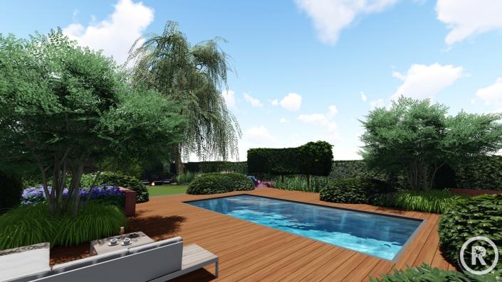 3d aanzicht Raamsdonksveer tuinontwerp
