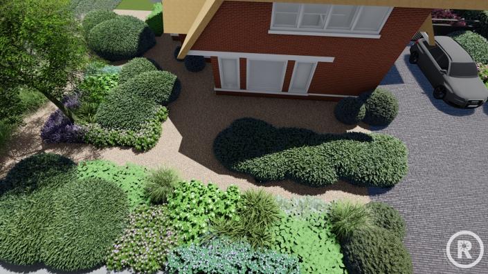 3d aanzicht Veen tuinontwerp